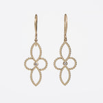 WD35 - 4 Petal Flower Drop Earrings