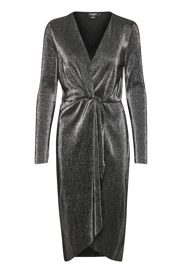 30404481 - Soaked In Luxury Gun metal front knot dress.