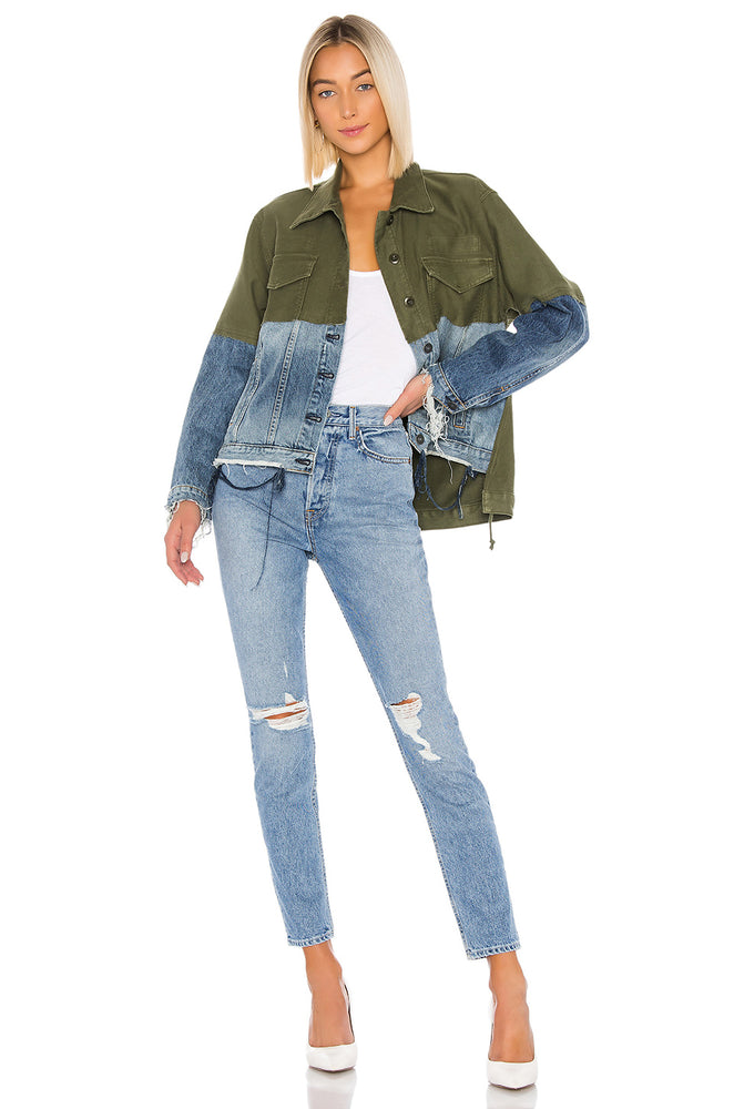 V7337DJR - Hudson Twill Denim Jacket Combo