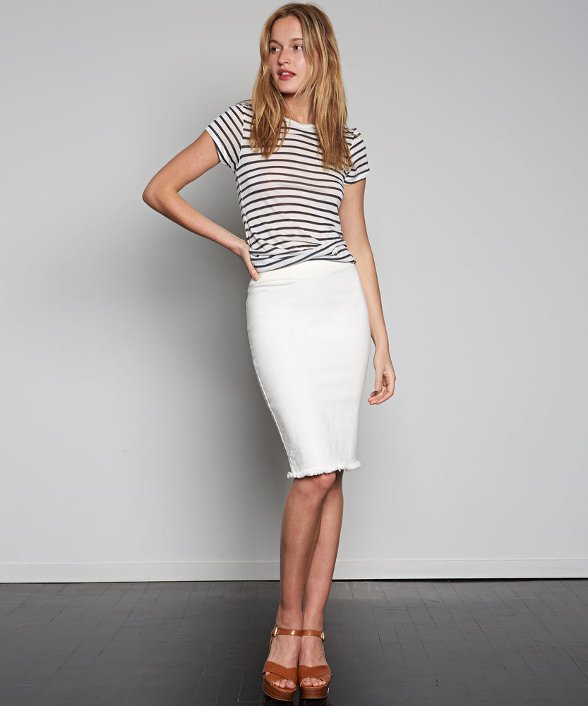 F1421 Avenue Montaigne Pull on Skirt