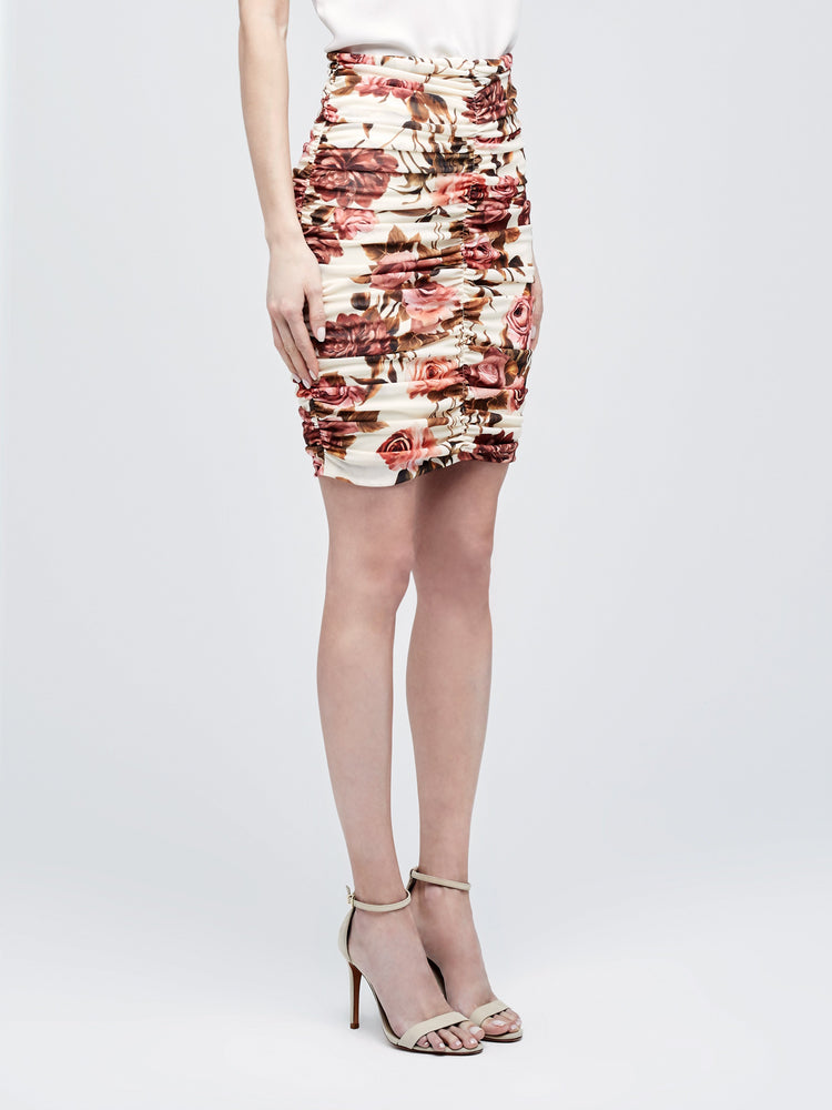 3346RAP L'AGENCE Veronica Shirred Skirt