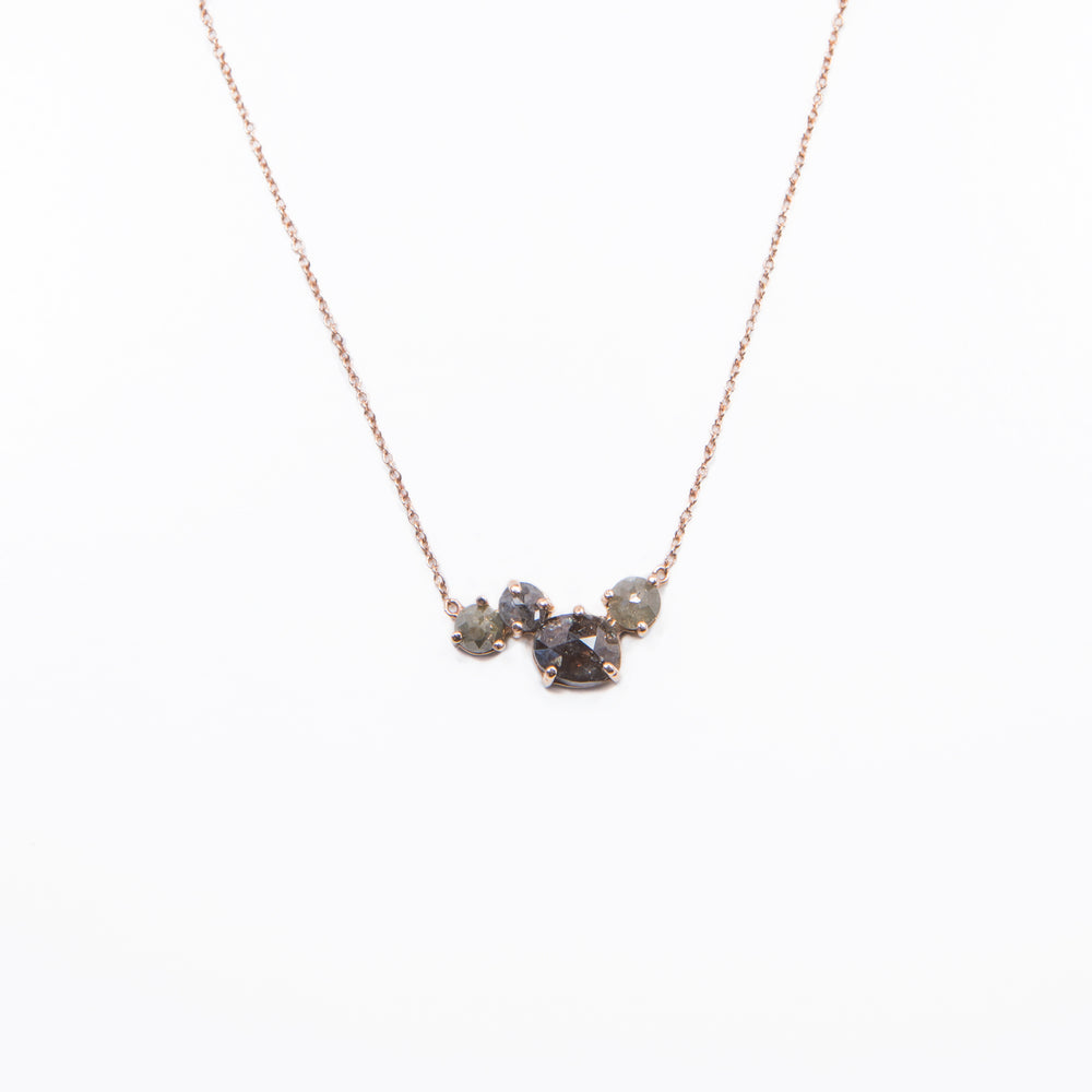WD409 Cluster of Raw diamonds Necklace