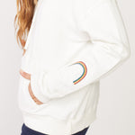 HT0637 - Monrow Oversized hoody with rainbow embroidery
