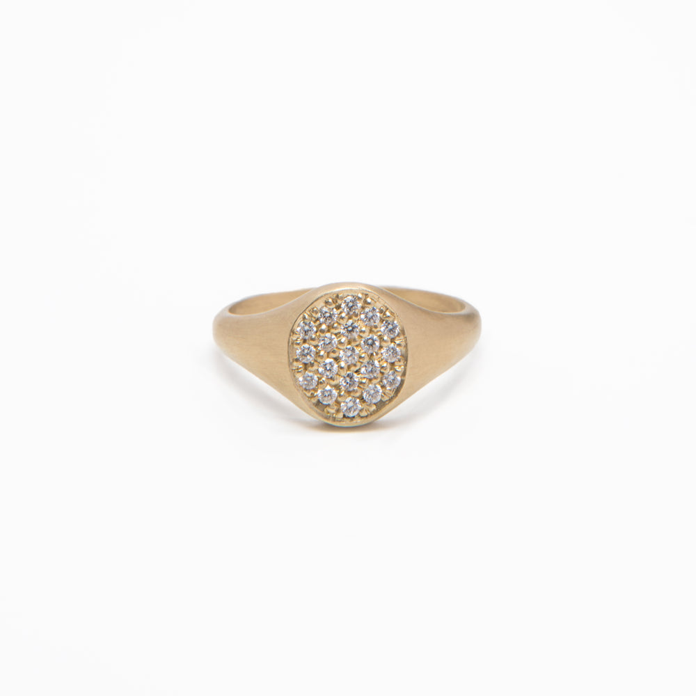 Wd86-PA-W - The Pave Signet Ring