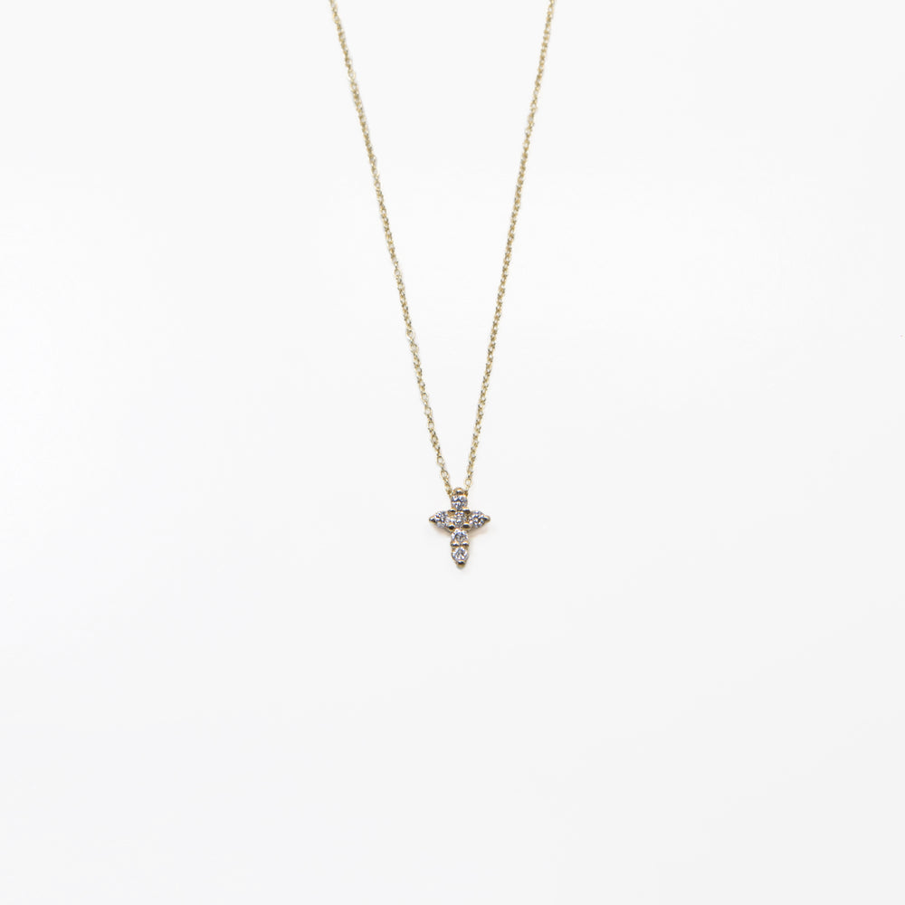 AD249 14kt gold Cross necklace