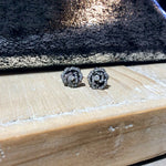 WD508 - Black Rhodium Rose Studs