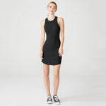 HD0370 MONROW Rib Racer Tank Dress
