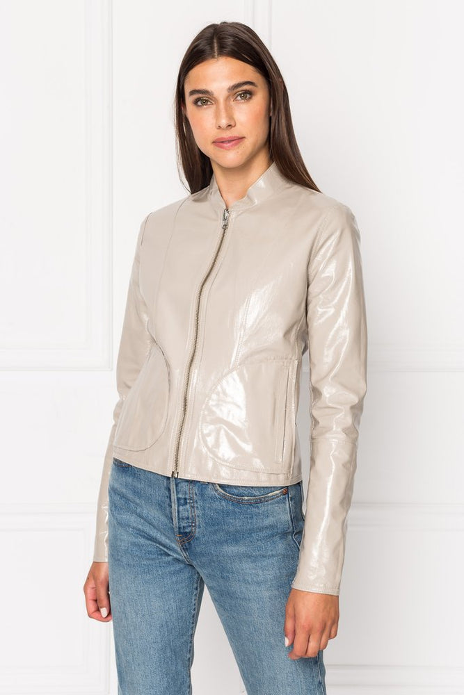 Lamarque Chapin Patent Leather Reversible Jacket