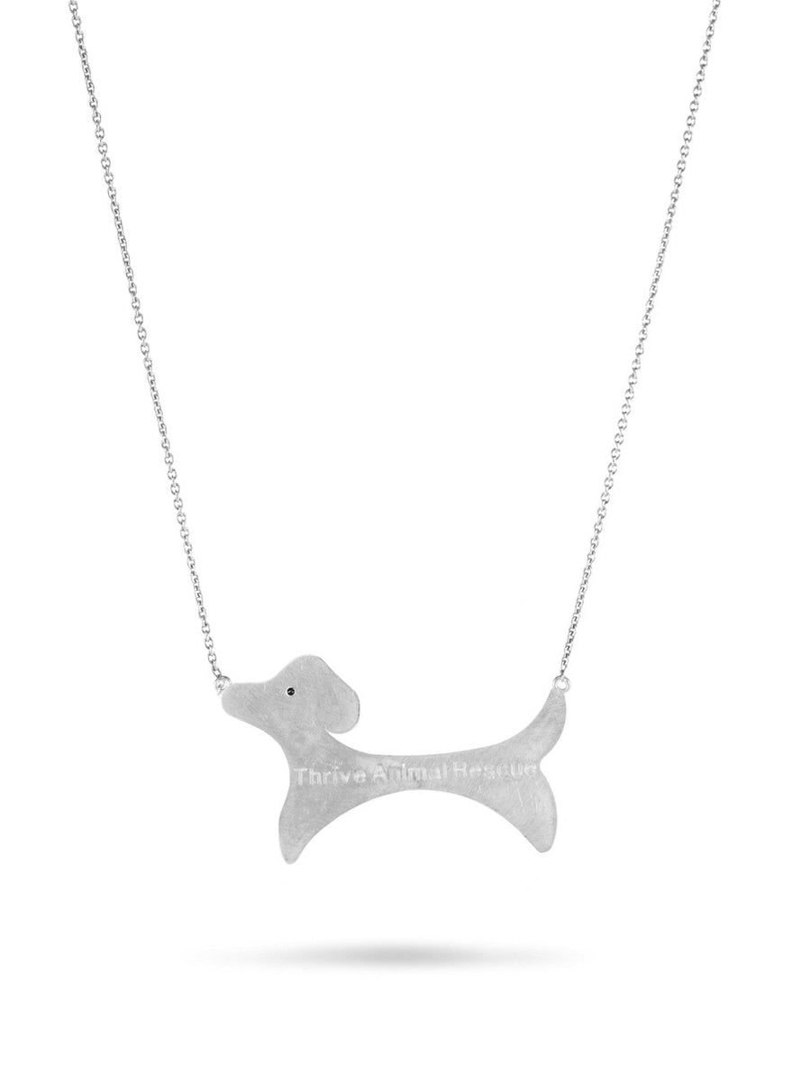 Sterling Thrive Small Dog Necklace