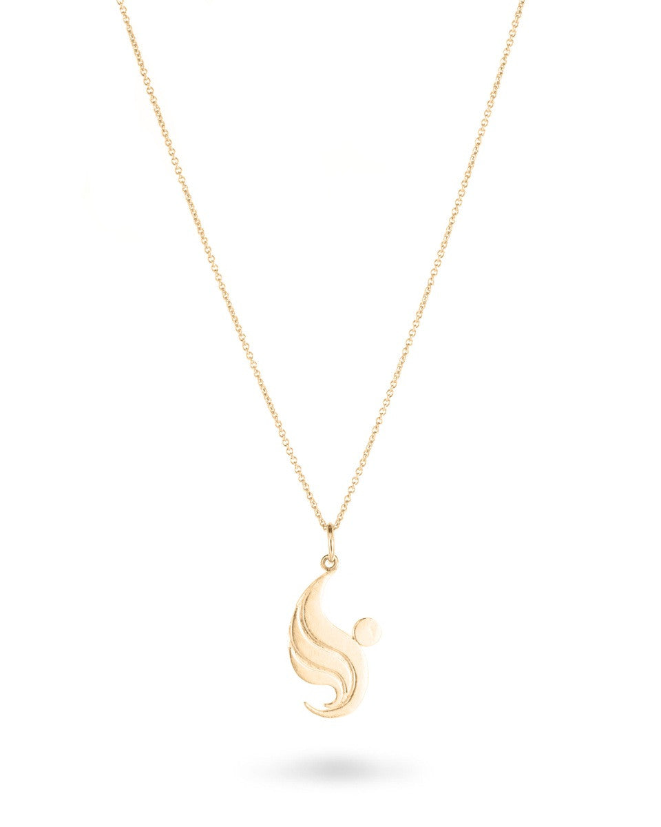 Angel Faces 14kt Gold Angel Necklace