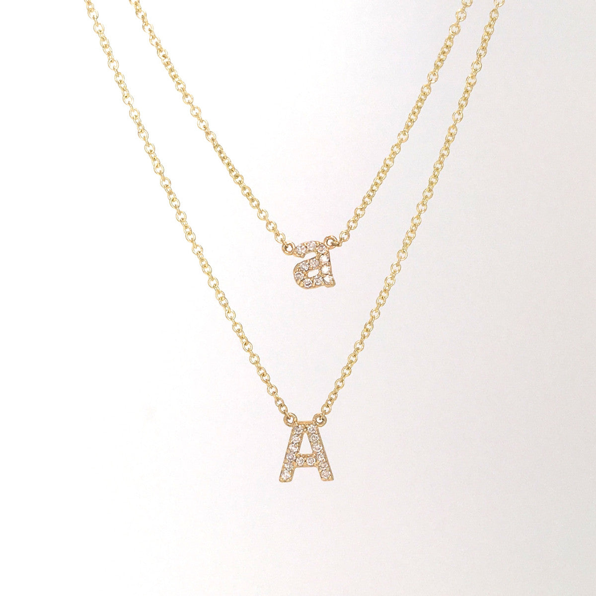 LOWER CASE PAVE DIAMOND INITIAL