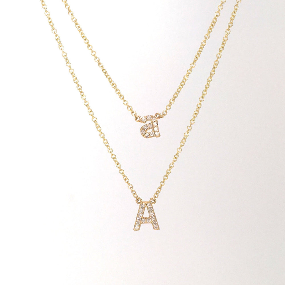 UPPER CASE PAVE DIAMOND INITIAL