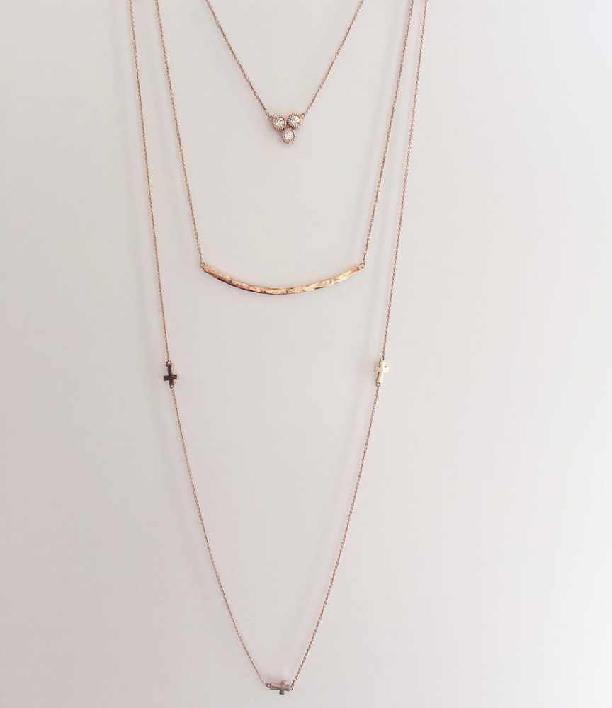 Hammered Stick Necklace
