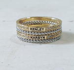 Custom Laser Engraved Diamond Eternity Band