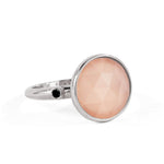 Sterling Rose Quartz Ring