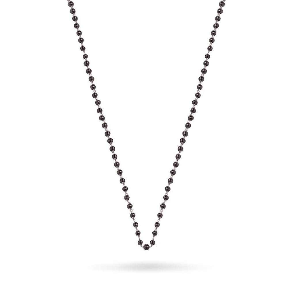 Sterling Black Spinal Pebble Chain