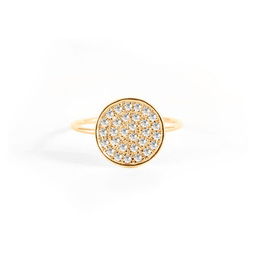 Small Pave Disk Ring