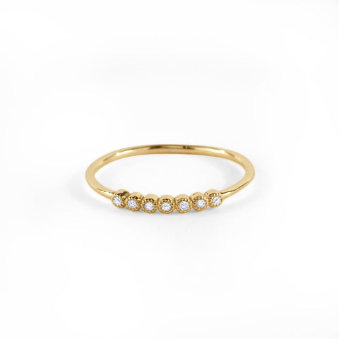 7 Bezel Diamond Ring