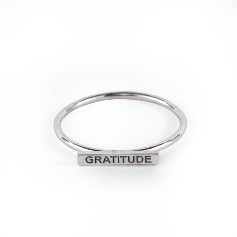 Gratitude Bar Wire Ring