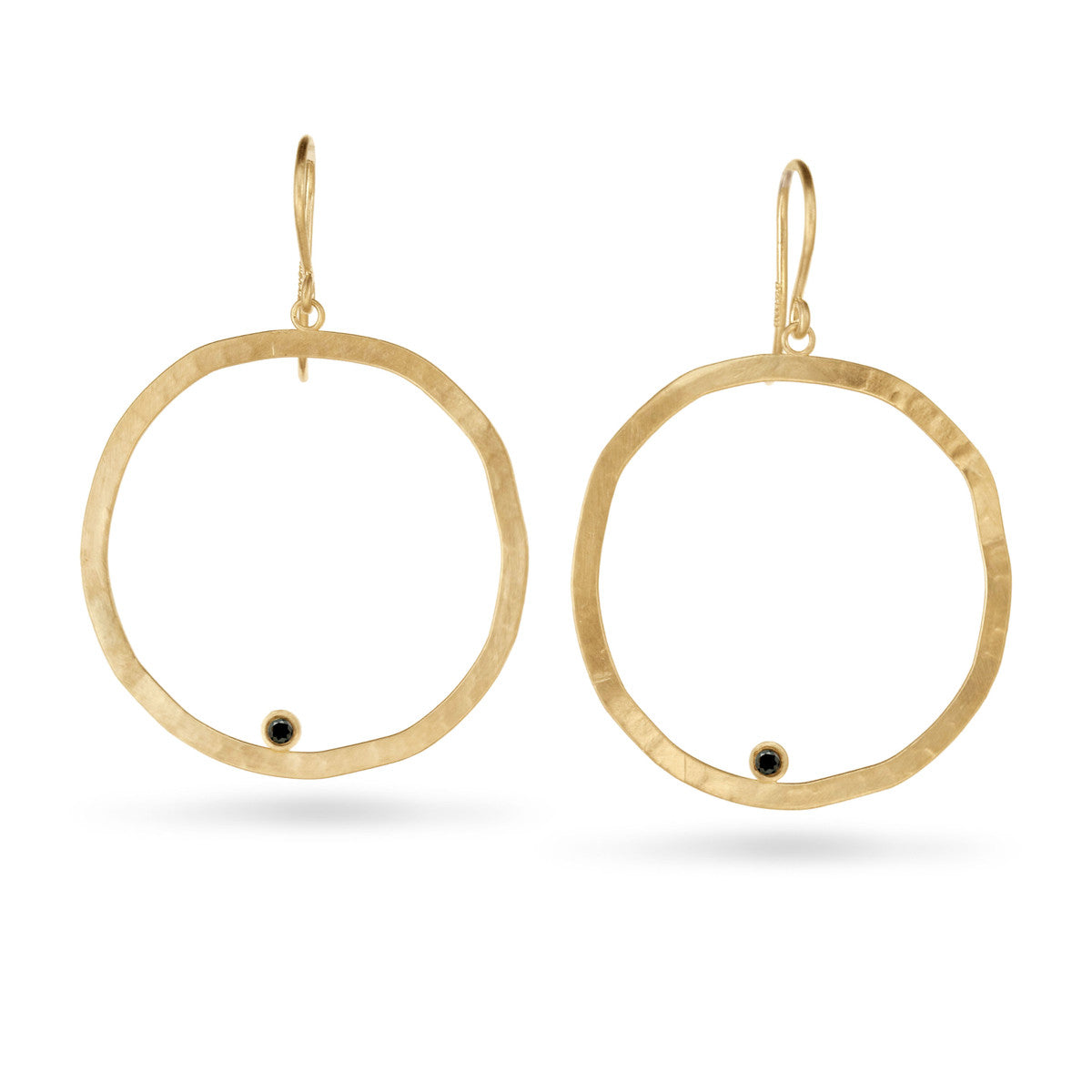 Large Hammered Circle Earring