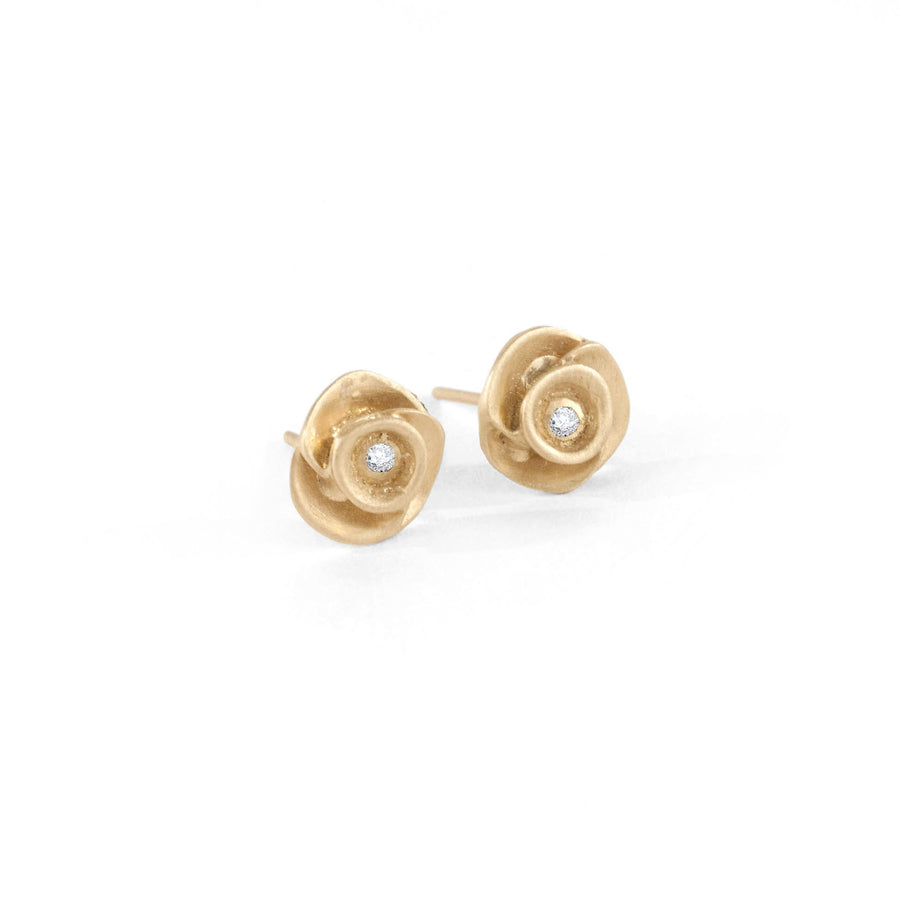 Large Rose Flower Stud