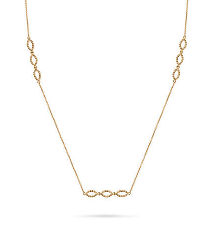 Curved Ball Stick Necklace