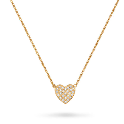 Large Flat Heart Necklace