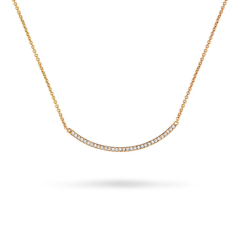 Bezeled Diamond Drop Necklace