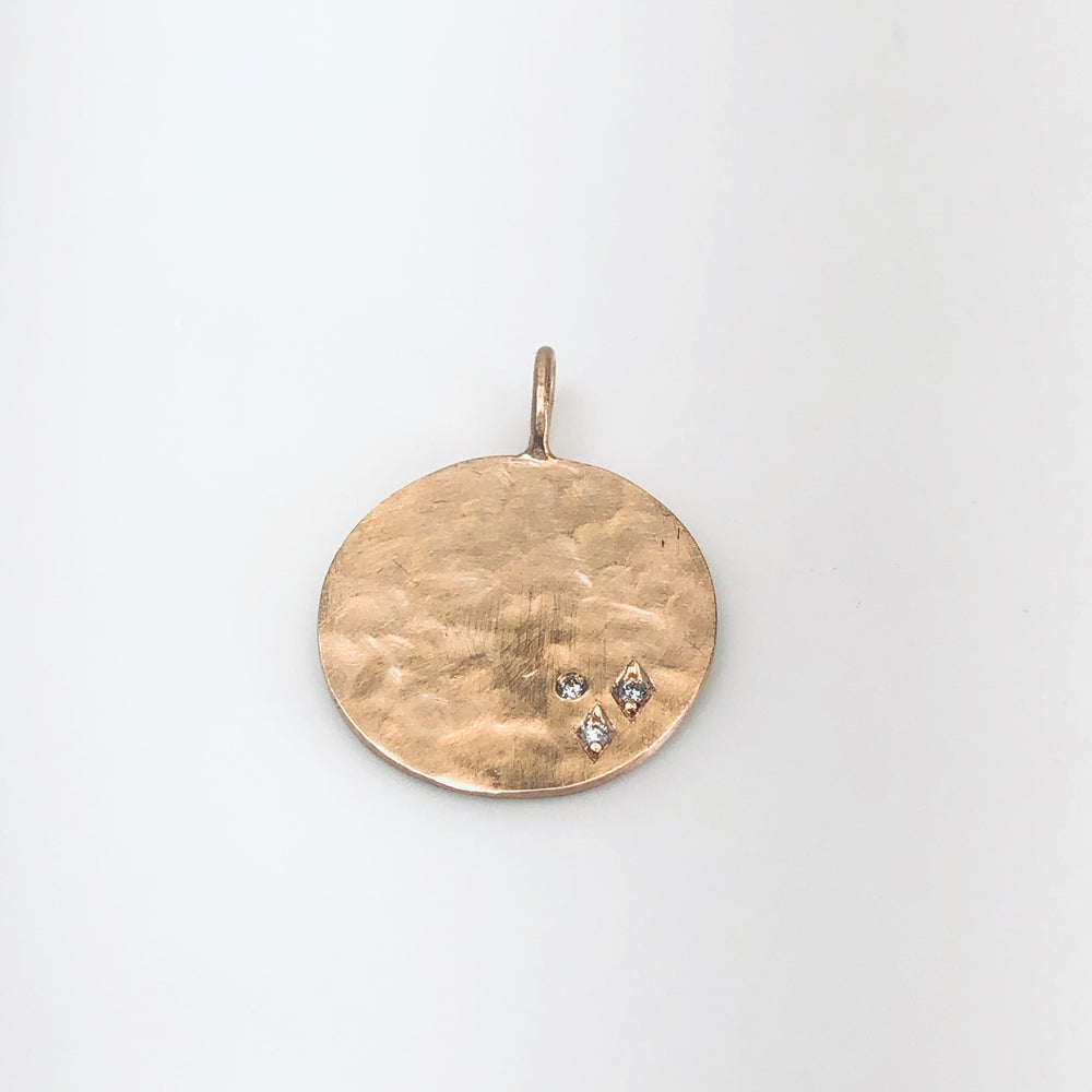 WD639 Coin with Diamonds Pendant