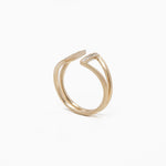 14kt gold double stick with DIAMONDS ring, WD183