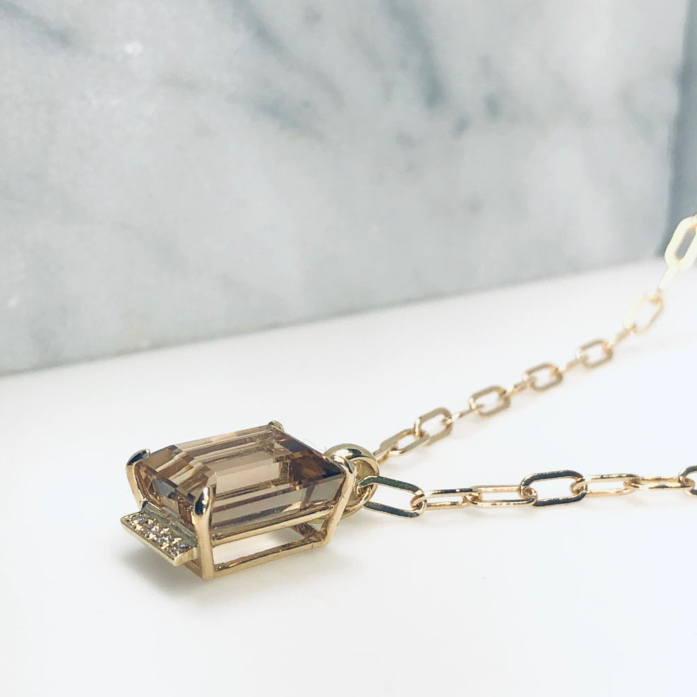 WD631, Champagne Topaz Necklace