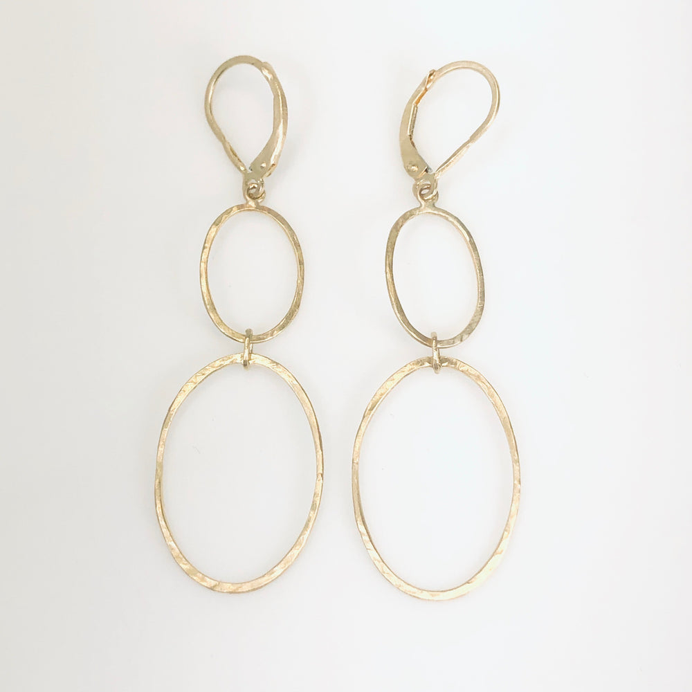 WD569 - Double Oval Drop Earrings