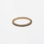 AD258, 14KT GOLD WITH APPROX .65CT BLACK DIAMOND SHARED PRONG ETERNITY BAND