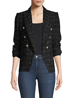 Ju19 - Generation Love Alexa Double Tweed Blazer