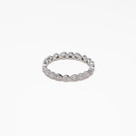WD428 - Pear and Round Eternity Band