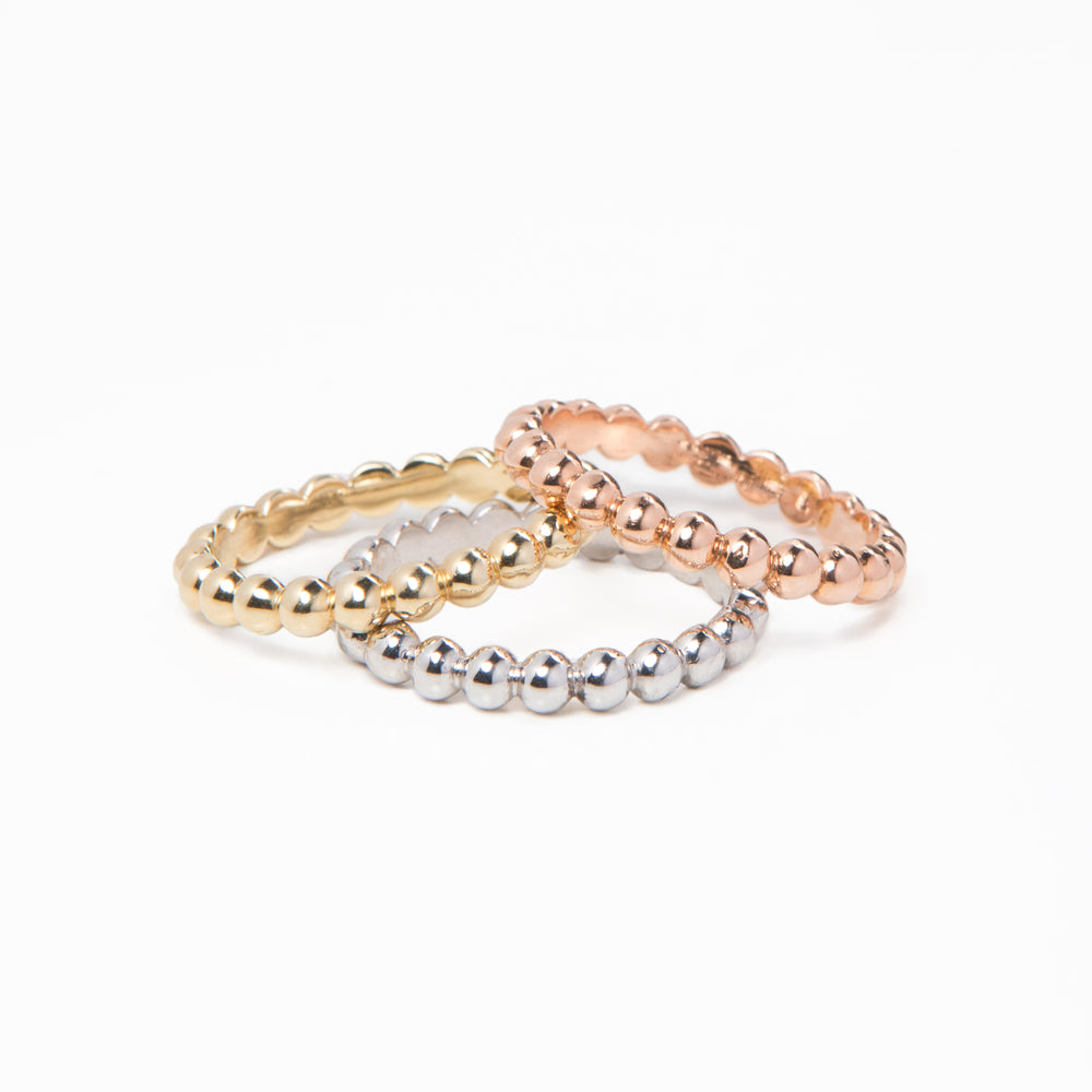 WD297 -  2.5mm Solid Bead Ball Eternity ring