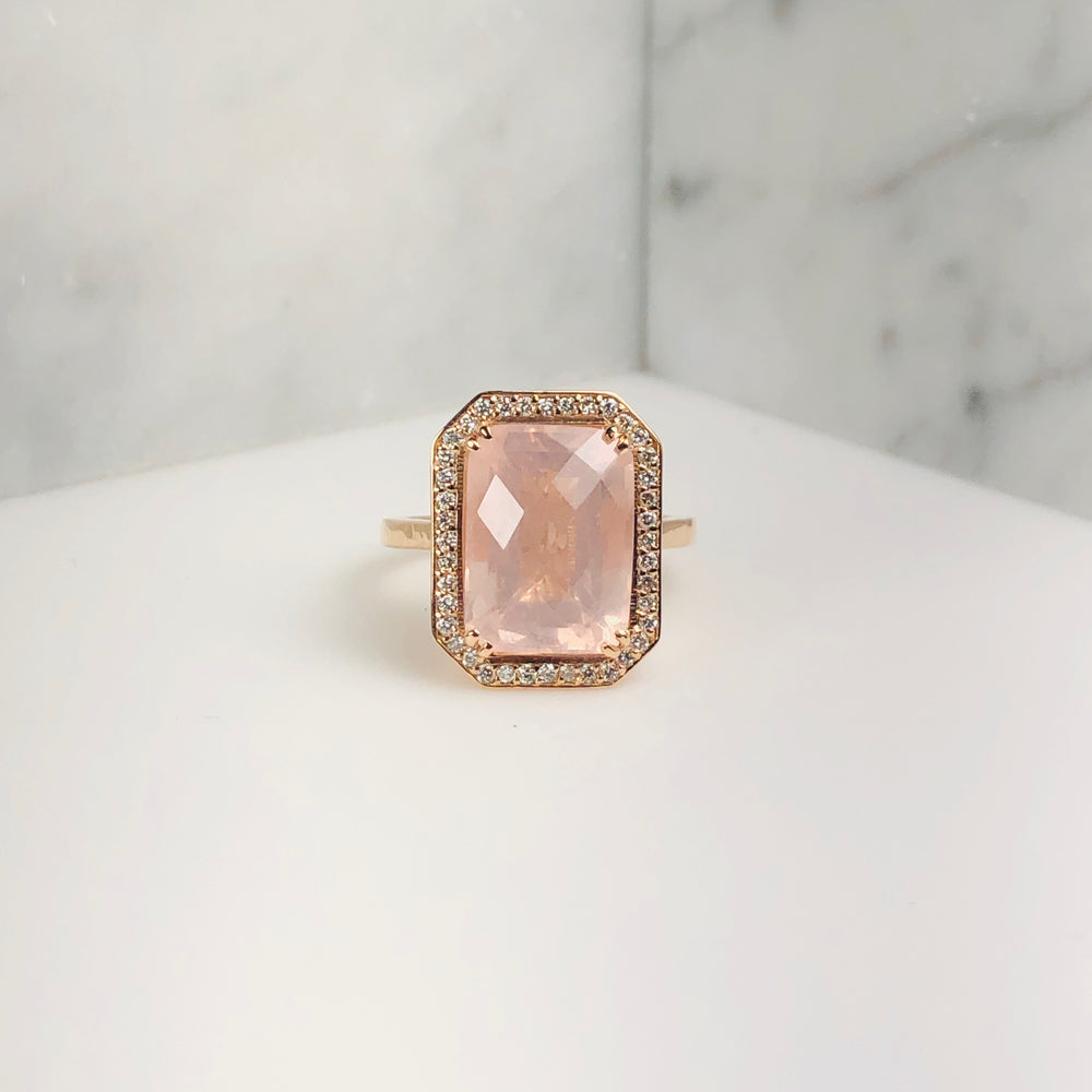 WD640 -  Cushion Cut Rose Quartz