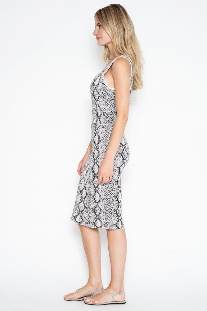 41OGD824 - One Grey Day Lola Python Dress
