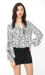 H19233 - Generation Love Dory Zebra Top