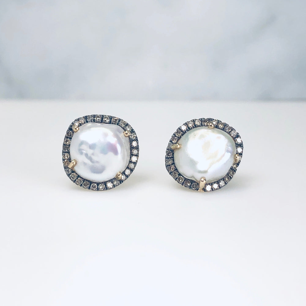 WD434 - Barque Pearl Studs