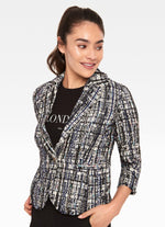 25821J - Ecru Multi Colored Jacket