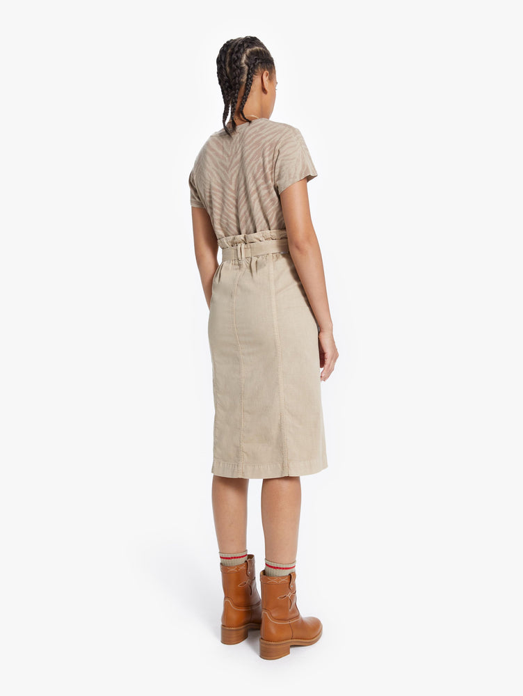 9456-722 MOTHER The paperbag patch Knee Skirt