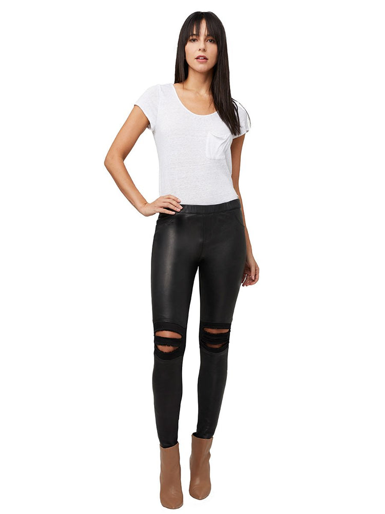 2037-21466 AS by DF Destroyed Leather Legging
