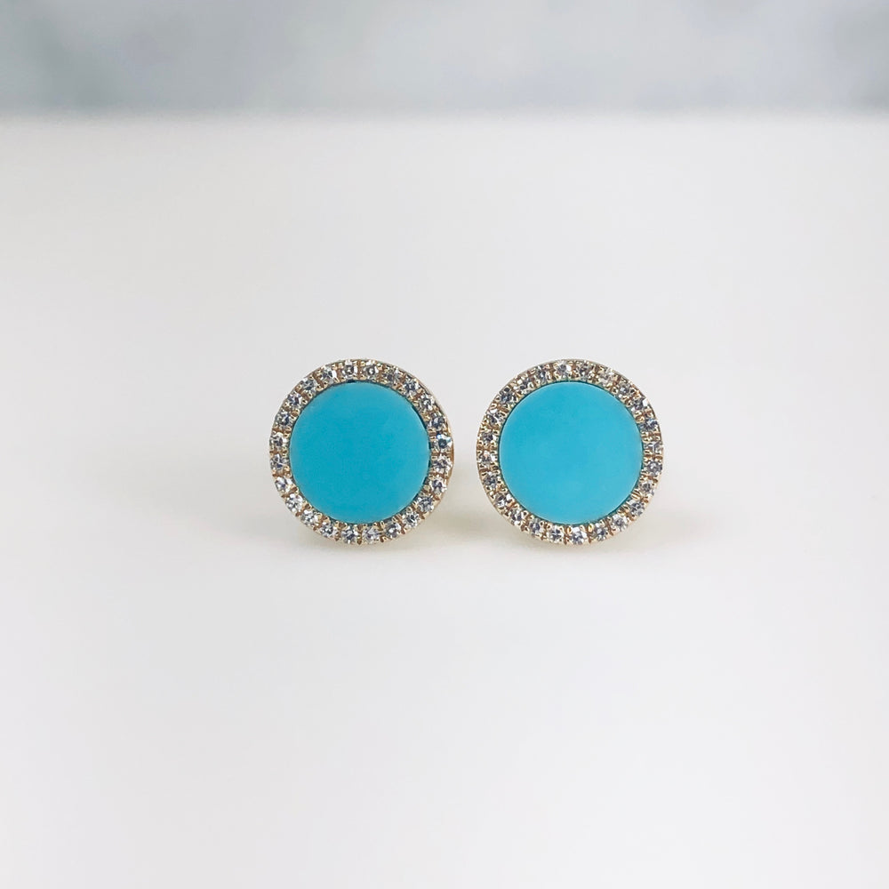 WD653 7.5mm Turquoise Studs