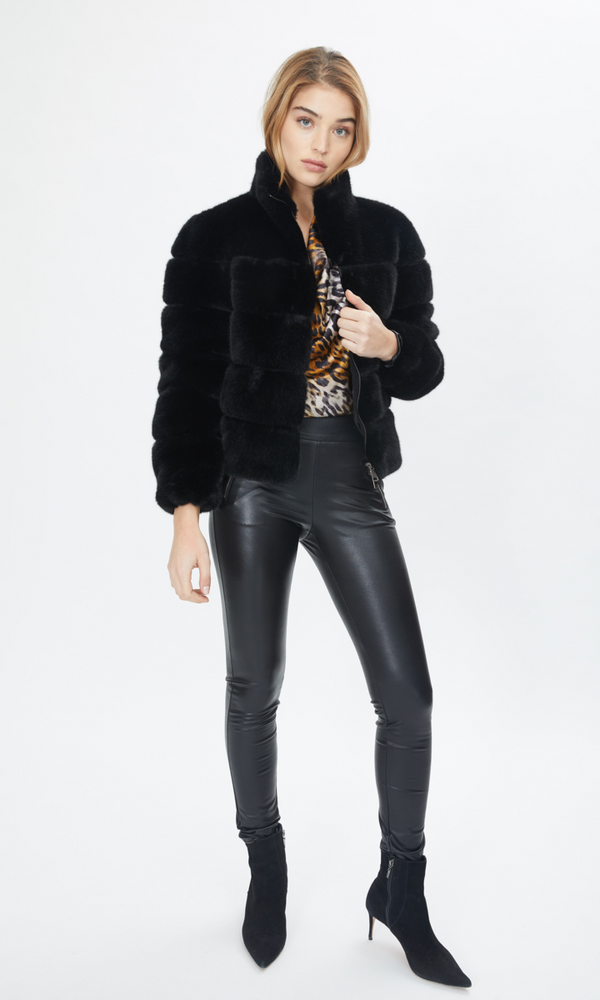 Jodie Gen Love Paneled Faux Fur Bomber