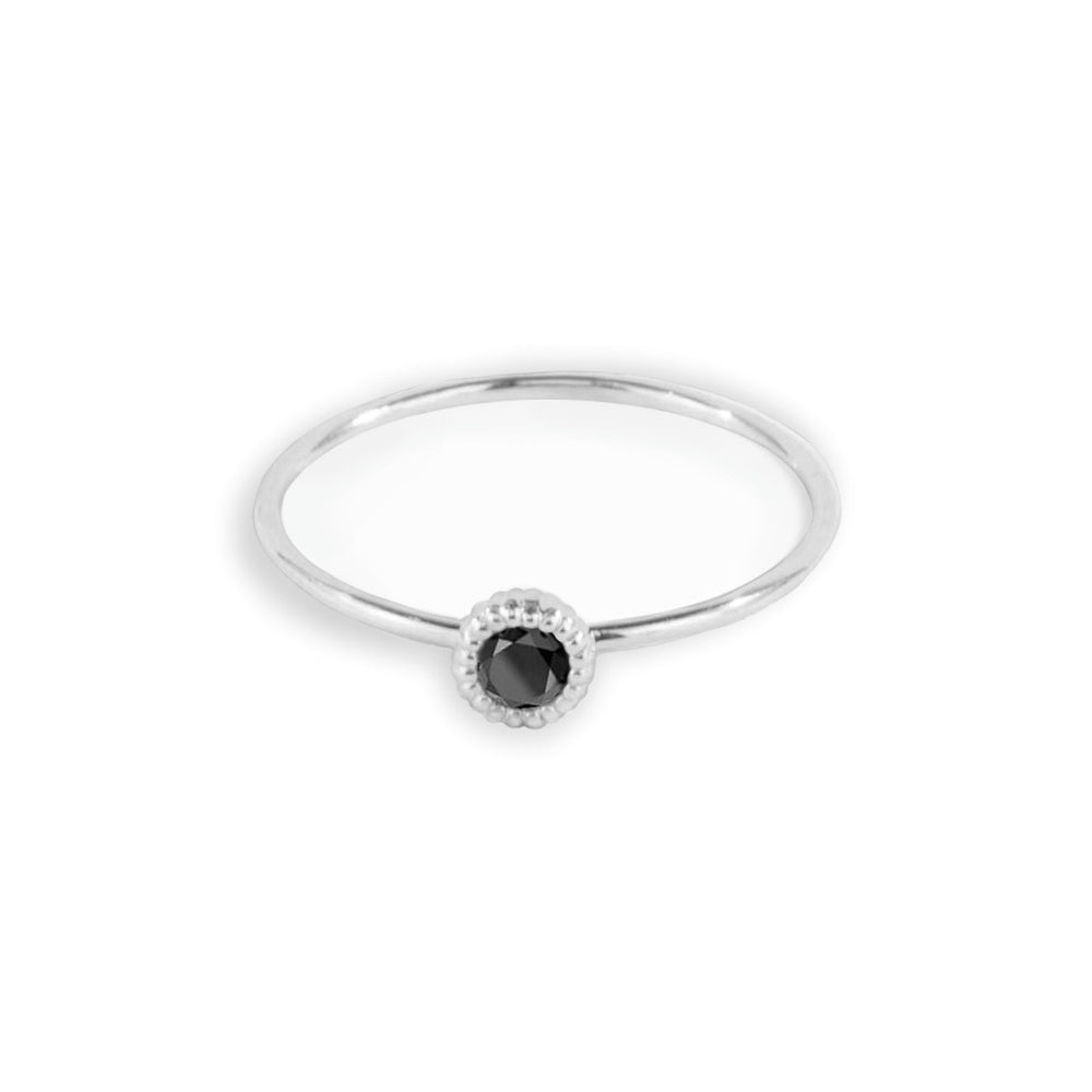 Pebble Black Diamond Ring