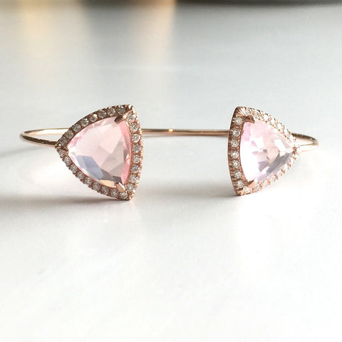 Rose Gold & Quartz Cuff