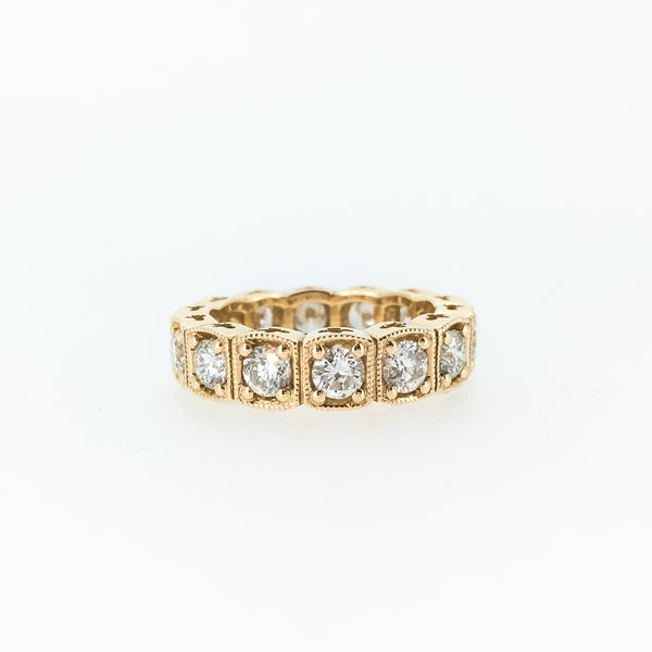 Cushion Shaped Eternity Band