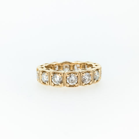 Cusion Shaped Eternity Band