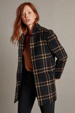 Jasmann04 - Velvet Jasmann Wool Plaid Coat